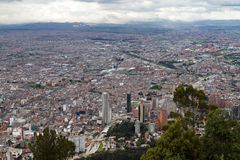 Bogota, Colombia. Aerial View of Bogota, Colombia Royalty Free Stock Photos