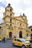 Bogota, Colombia - October 1, 2013: Church of Our Lady of Candel. Colonial church in the downtown part of Bogota, Colombia Stock Image