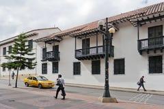 Bogota, Colombia - Oktober 1, 2013: Typische straat van touristy D Royalty-vrije Stock Foto's