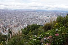 Bogota Colombia. Overview from a hill overlooking Bogota, Colombia royalty free stock photos