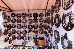 Bogota decorative vinyls Usaquen market stock images