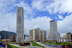 Bogota downtown. BOGOTA,COLOMBIA-JUNE 15,2016: Cityscape showing various building and streets of Bogota´s downtown at Colombia Royalty Free Stock Photo