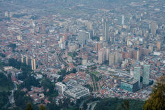 Bogota downtown from the top Royalty Free Stock Photo