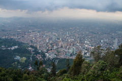 Bogota downtown from the top Stock Images