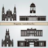 Bogota gränsmärken och monument vektor illustrationer