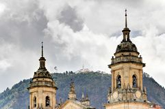 Bogota katedra z Monserrate Obraz Royalty Free