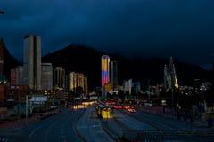 Bogota la nuit Photographie stock libre de droits