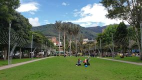 View of Parque 93 in Bogota. It`s also one of the best spots in the city stock video
