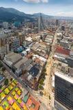 Bogota San Diego en Candelaria Districts-satellietbeeld in een zonnige dag royalty-vrije stock fotografie