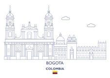 Bogota stadshorisont, Colombia Royaltyfri Fotografi