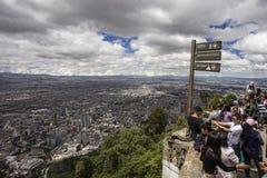 Bogota vanaf de bovenkant van Monserrate wordt gezien die Stock Afbeelding