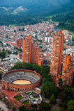 Bogota View. A view of Bogota, Colombia including the Santamaria bullring Royalty Free Stock Photos