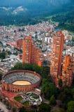 Bogota View. A view of Bogota, Colombia including the Santamaria bullring royalty free stock photos