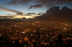 Bogota vor einem Sturm Stockbilder