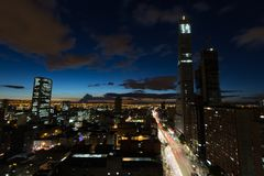 Bogota wieczór obrazy royalty free