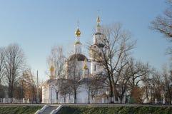 Bogoyavlenskaya church in Orel, Russia in winter Royalty Free Stock Images