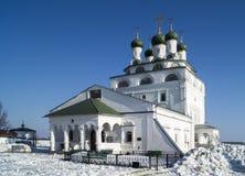 Bogoyavlenskiy大教堂在男性小修道院在城市Mstyora (1687-168 免版税库存照片