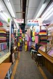 Bogoyoke Market. Rows of shops inside Bogoyoke Market, Yangon, Myanmar Stock Images