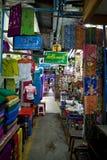 Bogoyoke Market. Rows of shops inside Bogoyoke Market, Yangon, Myanmar Royalty Free Stock Photography