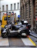 bogsera för motorcyklar Fotografering för Bildbyråer