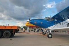 Bogsera flygplan Arkivbilder