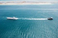 bogserabogserbåt för ubåt Fotografering för Bildbyråer