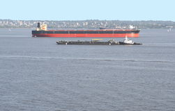 bogserbåt barge2 Royaltyfri Fotografi