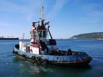 Bogserbåt i port N royaltyfri fotografi