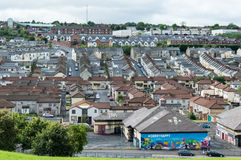 Bogside Landscape in Derry. This is a landscape of Bogside in Derry. Bloody Sunday memorial wall-paintings road in Londonderry (Derry), Ulster, Northern Ireland Royalty Free Stock Image
