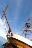 bogspröt piratkopierar shipen Arkivbild