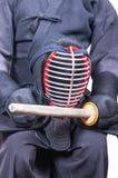 Bogu ` προστατευτικού εξοπλισμού ` ένδυσης ξιφομάχων και αμαρτία ξιφών ` μπαμπού Στοκ Φωτογραφίες