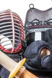 Bogu ` προστατευτικού εξοπλισμού ` και ξίφος ` sinai ` μπαμπού για την Ιαπωνία Στοκ εικόνες με δικαίωμα ελεύθερης χρήσης