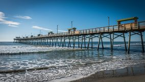 Bogue Inlet pier in Emerald Isle royalty free stock images