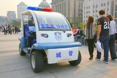 Boguet de police au point névralgique de touristes image stock