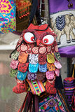 Bogyoke Aung San Market, Yangon, Myanmar. Amazing owl bag for sale at the Bogyoke Aung San Market, Yangon, Myanmar. Bogyoke Aung San Market was initially called Royalty Free Stock Photo