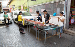 Bogyoke Aung San Market, Yangon, Myanmar Stock Photos
