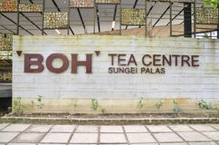 BOH种植园茶屋在金马仑高原 免版税库存图片