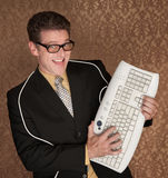 bohater komputerowa klawiatura Obraz Stock
