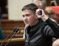 Bohater Ukraina, zaludnia delegata Ukraina Nadiya Savchenko Obraz Stock