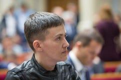 Bohater Ukraina, zaludnia delegata Ukraina Nadiya Savchenko Obrazy Stock