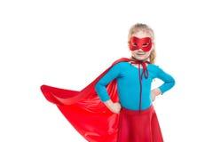 Bohatera dzieciak odizolowywający obraz royalty free