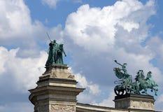 Bohatera ` kwadrat Budapest Węgry Obraz Royalty Free