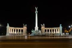 Bohatera kwadrat Budapest, Węgry Fotografia Stock