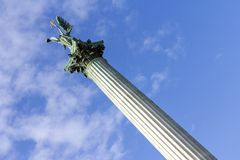 Bohatera ` kwadrat w Budapest fotografia stock