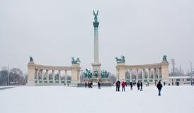 Bohatera kwadrat w Budapest, Węgry Fotografia Royalty Free