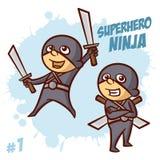 Bohatera Ninja chłopiec Clipart Zdjęcia Stock