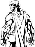 Bohatera plecy bitwy trybu Kreskowa sztuka ilustracji