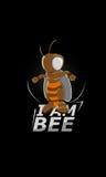 Bohaterski - jestem pszczołą, Super pszczoła fotografia stock
