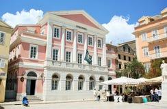 Bohaterzy Cypryjski walka kwadrat, Corfu, Grecja Zdjęcie Royalty Free