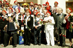 Bohaterzy wojny światowa II.Chorus weterani. zdjęcie royalty free